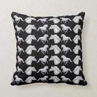 Elegant White Arabian Horses Pillow