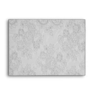 Elegant White Beaded Lace Card Envelope