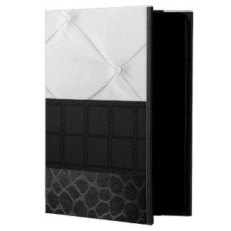 Elegant White Black Leather Powis iPad Air 2 Case