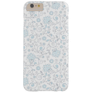 Elegant White Blue Floral Pattern Barely There iPhone 6 Plus Case