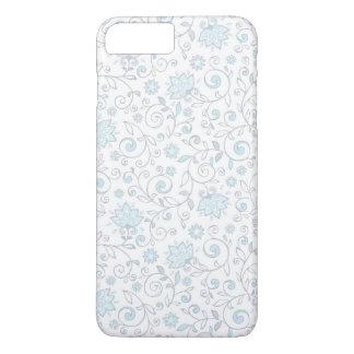 Elegant White Blue Floral Pattern iPhone 7 Plus Case