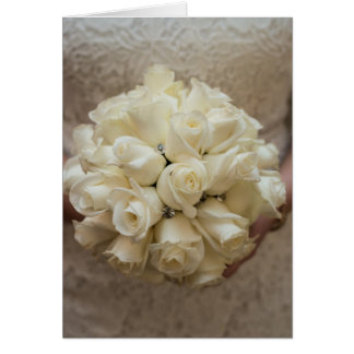 Elegant White Bridal Bouquet Card