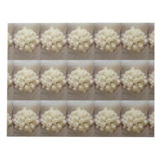 Elegant White Bridal Bouquet Notepad