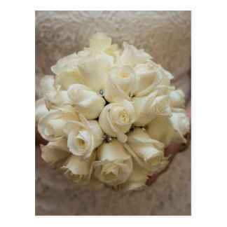 Elegant White Bridal Bouquet Postcard