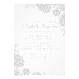 Elegant White Bridal Shower Invitations Personalized Announcements