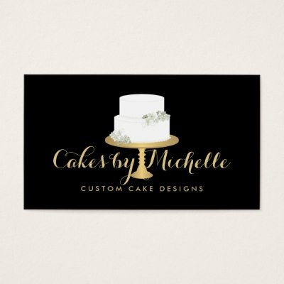 Elegant white cake with florals cake decorating business card elegant white cake with florals cake decorating business card zazzle colourmoves
