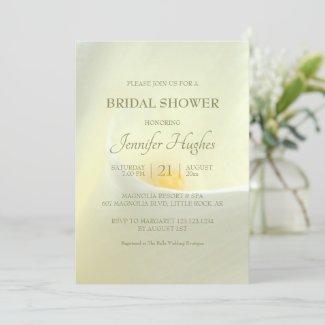 Elegant White Calla Bridal Shower Invitation