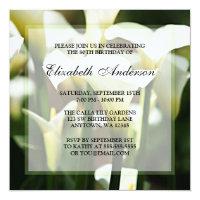 Elegant White Calla Lily 80th Birthday Party