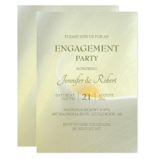 Elegant White Calla Lily Engagement Invitation