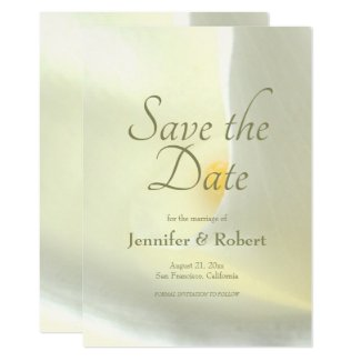 Elegant White Calla Lily Save the Date Invitation