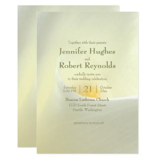 Elegant White Calla Lily Wedding Invitation
