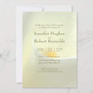 Elegant White Calla Virtual Wedding Invitation