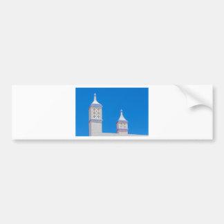 Elegant white chimneys in blue sky.JPG Bumper Sticker