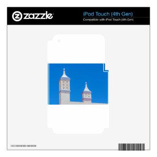 Elegant white chimneys in blue sky.JPG Decal For iPod Touch 4G