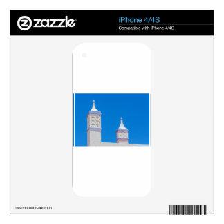Elegant white chimneys in blue sky.JPG Decal For The iPhone 4S