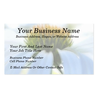 Elegant White Coneflower Double-Sided Standard Business Cards (Pack Of 100)