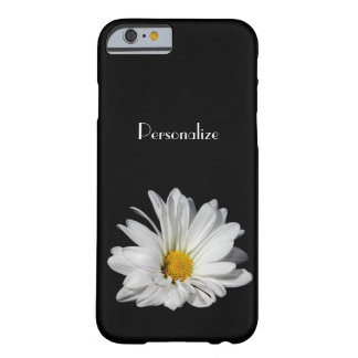 Elegant White Daisy Flower With Name Barely There iPhone 6 Case