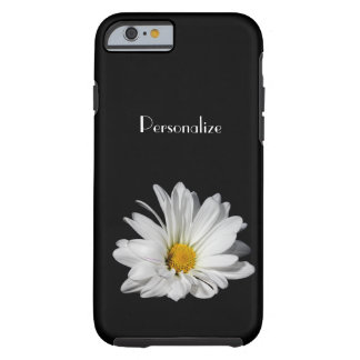 Elegant White Daisy Flower With Name Tough iPhone 6 Case