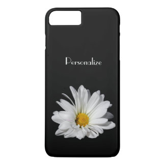 Elegant White Daisy Flower With Name iPhone 7 Plus Case