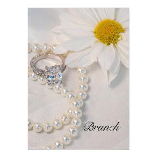 Elegant White Daisy Post Wedding Brunch Invitation