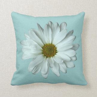 Elegant White Daisy Throw Pillow