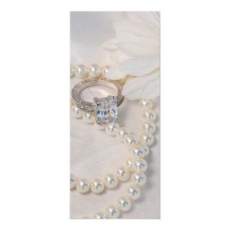 Elegant White Daisy Wedding Ceremony Program
