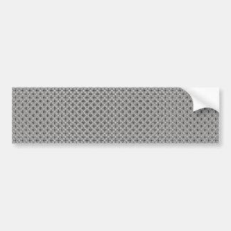 elegant white damask circles on black background car bumper sticker