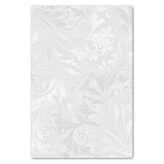 Elegant White Damask Tissue Paper