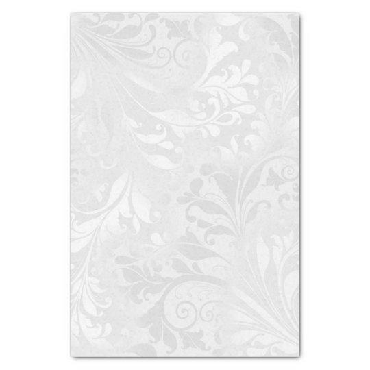 Elegant White Damask Tissue Paper Zazzle Com