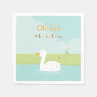 Elegant White Duck Birthday Party Supplies Napkins