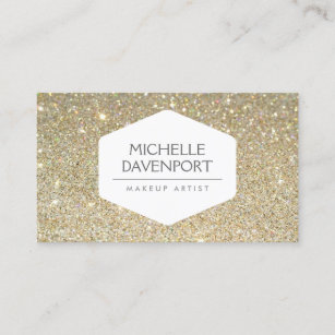 Background business cards zazzle elegant white emblem on gold glitter background business card colourmoves