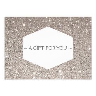 ELEGANT WHITE EMBLEM SILVER GLITTER Gift Card