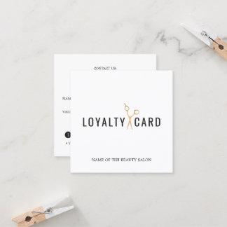 Elegant White Faux Gold Scissor Loyalty Card