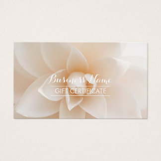Elegant White Floral Salon Gift Certificate