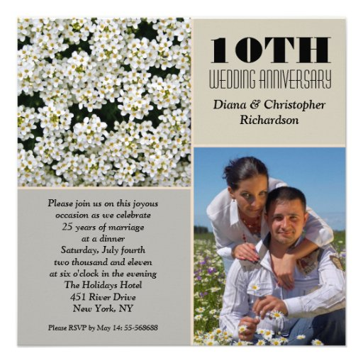 10th Wedding Anniversary Invitations, 1100+ 10th Wedding