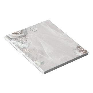 Elegant White Flowers Notepad
