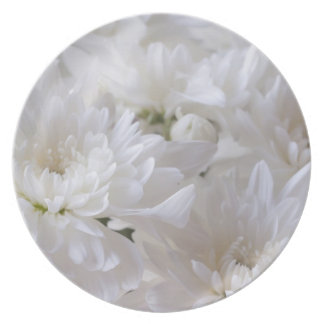 Elegant White flowers Party Plate