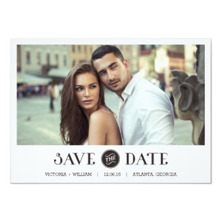 Elegant White Frame Save the Date Invitations