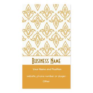 Elegant White Gold-effect Business Card