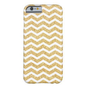 Elegant White Gold Glitter Zigzag Chevron Pattern Barely There iPhone 6 Case