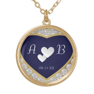 Elegant White Hearts Diamond Wedding Necklace