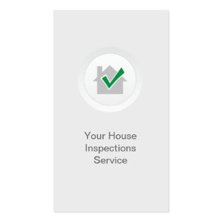 Elegant White Home Inspection Business Card