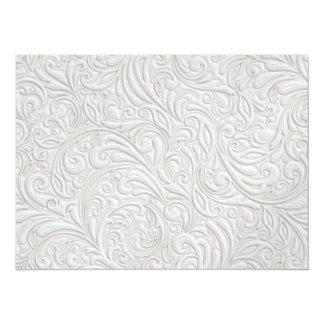 """Elegant White Invitation - SRF 5.5"""" X 7.5"""" Invitation Card"""