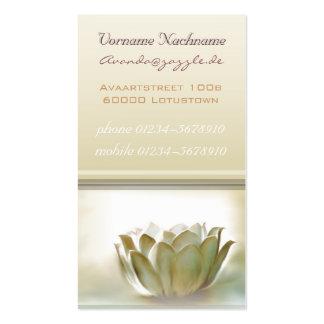 Elegant White Lotus buisness card Business Cards