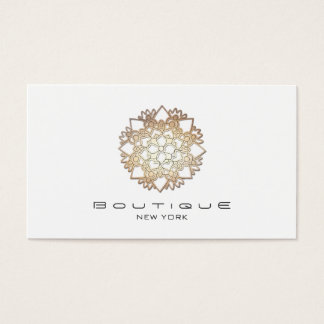 Elegant White Lotus Flower Simple Professional Business Card