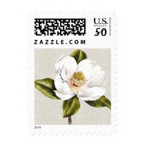Elegant White Magnolia Postage