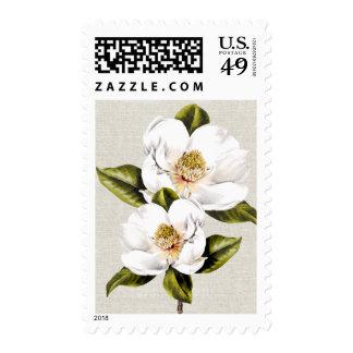 Elegant White Magnolias Stamp