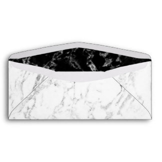Elegant White Marble Corporate Business Office Envelope
