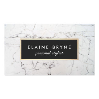 Elegant White Marble Fashion and Beauty Double-Sided Standard Business Cards (Pack Of 100)