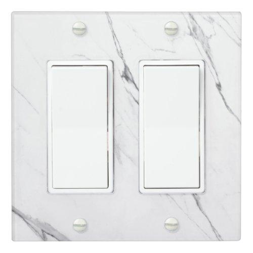 Elegant white marble light switch cover
